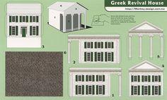 Greek Revival House - Cut Out Postcard by Shook Photos, via Flickr