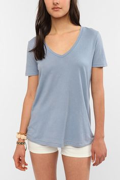 BDG Washed V-Neck Tee  #UrbanOutfitters