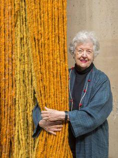 photo of artist sheila hicks Sheila Hicks, Georges Pompidou, Weaving Art, Textile Artists, American Artists, Fiber Art, Creations, Museum, The Incredibles