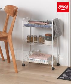 Storage ideas at Argos. Organise your whole home, from the kitchen to the loft to the kids' toys. Cute Bedroom Ideas, Diy Bedroom Decor, Home Decor, Interior Design Kitchen, Room Interior, Kitchen Storage Trolley, Mobile Kitchen Island, Hallway Storage, Garage Storage