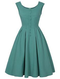 #RoseGal - #Rosewholesale Vintage Dress - AdoreWe.com