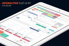 Axure interactive flat UI kit - Websites - 1