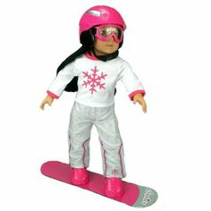 Doll Snow Board Set for 18 Inch Dolls and American Girl Dolls, Doll Accessory Set Includes