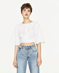 Image 5 of CROPPED TOP WITH BOW from Zara