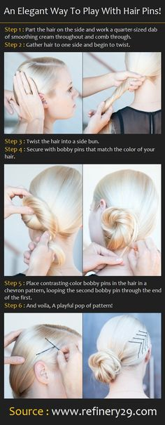 An Elegant Way To Play With Hair Pins! | Pinterest Tutorials