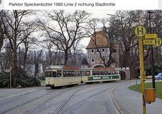 Straßenbahn am Parktor Speckenbuettel