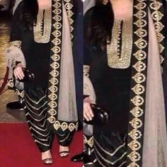 #punjabisuit #black suit #salwarkameez #blackgolden Combination