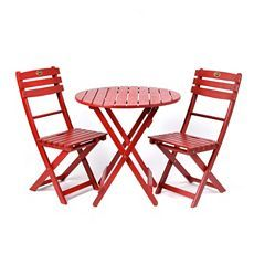 Outside by the garden? or on the deck? Wood Red Bistro Set at Kirkland's