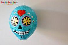 piñata de calavera fácil de hacer, tutorial, diy, dead pinata skull