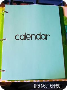 The Nest Effect: Home Management Binder: Calendar and Cleaning & Organizing Categories