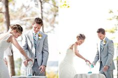 Sand Ceremony - Simply Blue Weddings | Real Weddings | Michael Murphy IV Photography
