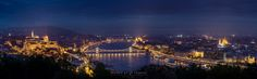 The amazing view you get of Budapest from the Gellért Hill!  by Thomas Mørkeberg #Hungary #travel #Budapest #Europe #Danube #panorama #night #cityscape #castle #bridge
