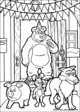 Masha and the Bear coloring pages on Coloring-Book.info