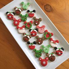 Mickey Mouse mini Christmas cookies