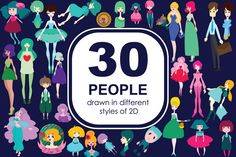 30 people - 2D of Adobe Illustrator @creativework247