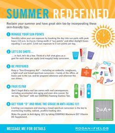Summer Skin Tips!
