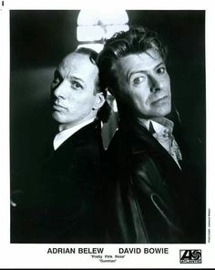Adrian Belew and David Bowie. I have toured the amazing Adrian twice. I'm still waiting for my chance to tour The Bowie. Adrian Belew, David Bowie Born, The Bowie, Mick Ronson, Bowie Starman, The Thin White Duke, Major Tom, Miles Davis, Playing Guitar