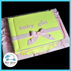Baby book baby shower cake.