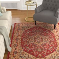 Astoria Grand Dufresne Green/Red/Yellow Area Rug Rug Size: Rectangle x Yellow Area Rugs, Beige Area Rugs, Blue Area, Persian Motifs, Red Rugs, Traditional Design, Red And Blue, Red Black, Dark Red