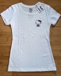 7742c63446a59 FILA x Sanrio Hello Kitty For UO Exclusive Women s Tee Shirt Short Sleeve  Scoop