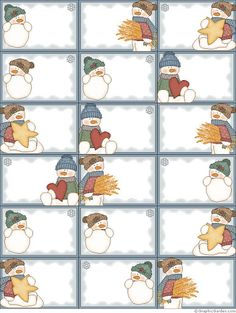 Snowmen: Free Printable Frames, Cards, Tags and Labels. More Snowmen: Free Printable Frames, Cards, Tags and Labels. Christmas Gift Wrapping, Christmas Gift Tags, Winter Christmas, Vintage Christmas, Christmas Ornaments, Christmas Snowman, Printable Frames, Gift Tags Printable, Illustration Noel