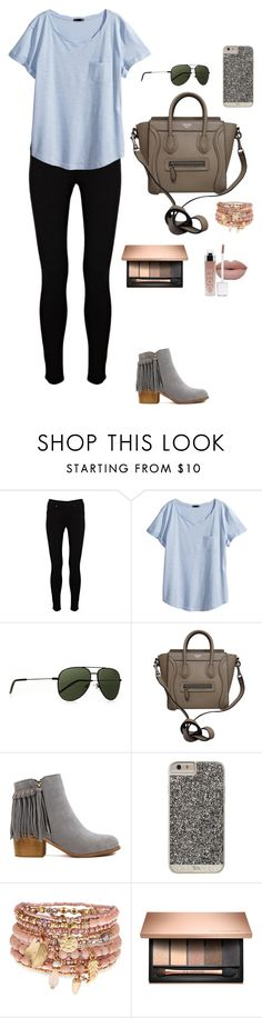 """""""Untitled #12"""" by mia-tox ❤ liked on Polyvore featuring Warehouse, H&M, Yves Saint Laurent, CÉLINE, Case-Mate and Accessorize"""