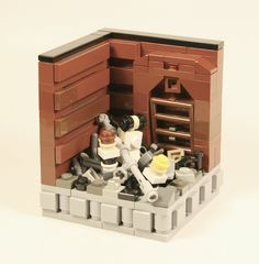 Star Wars Micro Scale Trash Compator by MacLane, via Flickr Awesome Lego, Cool Lego, Lego Star Wars Mini, Micro Scale, Micro Lego, Amazing Lego Creations, Lego Boards, Lego Models, Lego Stuff