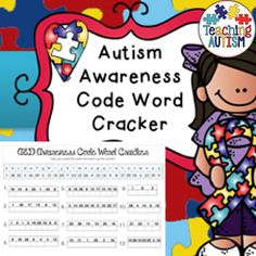 Autism Awareness ASD Code Word Cracker  Great for Autism Awareness Month/making others aware in the class of Autism.   Includes 1 page, students use the codes at the top of the page to work out the words related to autism.