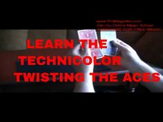 Free Magic Tricks: Technicolor Twisting the ACES Tutorial Magic Tricks For Beginners, Amazing Magic Tricks, Magic Tricks Revealed, Magic Book, Magic Art, Cool Card Tricks, Magic Tutorial, Coin Tricks, Magic Video
