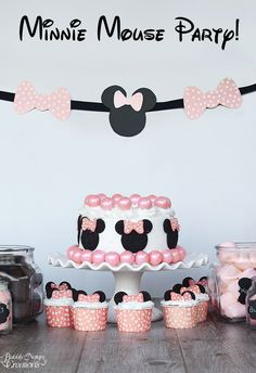 Minnie Mouse Party!  Fun party with easy ideas!  Perfect for a birthday party, baby shower or just because!