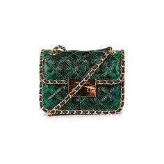 Michael Kors Carine Cross-Body Bag ($435) ❤ liked on Polyvore featuring bags, handbags, shoulder bags, green, quilted shoulder bag, green leather purse, leather purse, crossbody shoulder bags and leather crossbody handbags