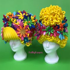 Headdress, Headpiece, Foam Wigs, Foam Party, Anime Conventions, Costume Shop, Crazy Hair, Bat Mitzvah, Gay Pride