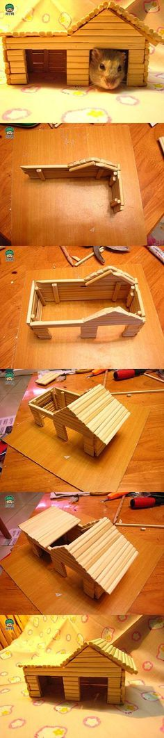 DIY Hamster House with Chopsticks | iCreativeIdeas.com