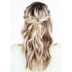 adorable, amazing, blonde, braid, braided, cute, fashion, girl, girly,... ❤ liked on Polyvore featuring beauty products, haircare, hair styling tools and hair
