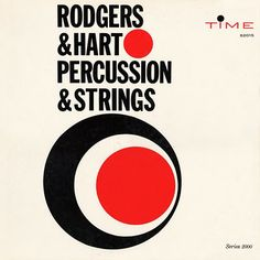 Mid-Century Album Covers – Rodgers & Hart – Percussion & Strings / Time Records, 1960 Cover design by Burt Goldblatt Cd Cover, Music Covers, Album Covers, Cover Art, Typo Design, Dots Design, Graphic Design, Used Records, Album Cover Design
