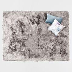 Bild 1 des Produktes Teppich aus langem Kunstfell mit Silberschimmer