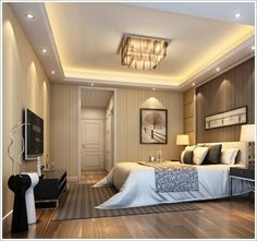 modern master bedroom ceiling design ideas with wooden floor decorations Modern Master Bedroom, Master Bedroom Makeover, Modern Bedroom Design, Master Bedroom Design, Contemporary Bedroom, Dream Bedroom, Modern Interior Design, Bedroom Designs, Master Bedrooms