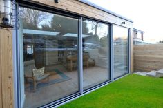 Hedgehog Aluminium recently installed bespoke sliding patio doors to this home.