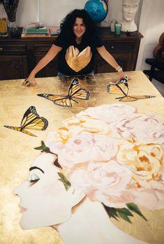 Post image for NOLA Local: Meet Artist Ashley Longshore Abstract Portrait, Artist At Work, Love Art, Art Inspo, Collage Art, Art Projects, Contemporary Art, Illustration Art, Art Gallery