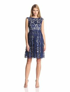 Bridesmaids????   Maggy London Women's Cap Sleeve Lace Fit and Flare Dress, http://www.amazon.com/dp/B00DJCA7WM/ref=cm_sw_r_pi_awdm_QV0ltb1A050T3