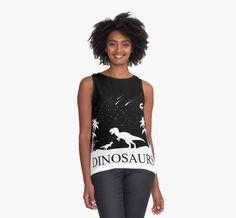Dinosaurs Under the Stars Contrast Tank #dinosaurs #trex #tyrannosaurus #rex #jurassic