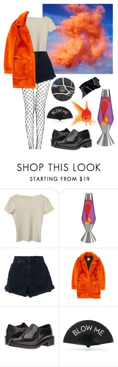"""""""i don't know where i'm going to sleep tonight"""" by thishazyheadofmine on Polyvore featuring Lava, Nobody Denim, MSGM, Dr. Martens and Khu Khu"""