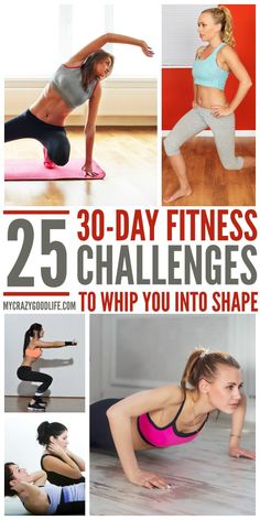 25 Motivating 30-Day Fitness Challenges #fitness