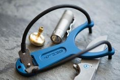 Precision Built Everyday Carry Slingshot, in Stunning Blue The Urban EDC Supply exclusive run of the BRNLY SlingPop is anodized in a deep indigo. To match the a