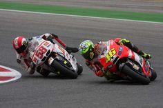 Valentino Rossi and Marco Simoncelli::