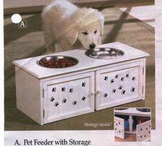 Dog bowls with storage :)
