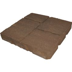 allen   roth�Cassay 16-in x 16-in Tranquil Four-Cobble Patio Stone (Actuals 15.75-in W x 15.75-in L)