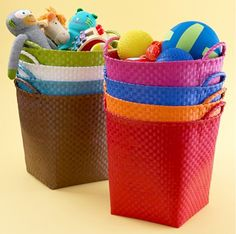 Colorful Toy Storage