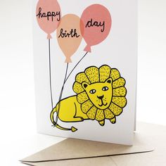 happy birthday greeting card by mimifaktur