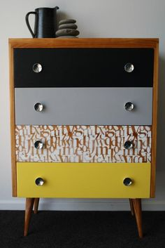 1000 ideas about Retro Dresser on Pinterest